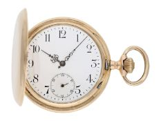 Pocket watch: heavy pink gold hunting case watch, Swiss Ankerchronometer, around 1900, No.