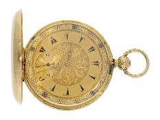 Pocket watch: interesting early gold hunting case watch for the Ottoman market/ Turkish market,