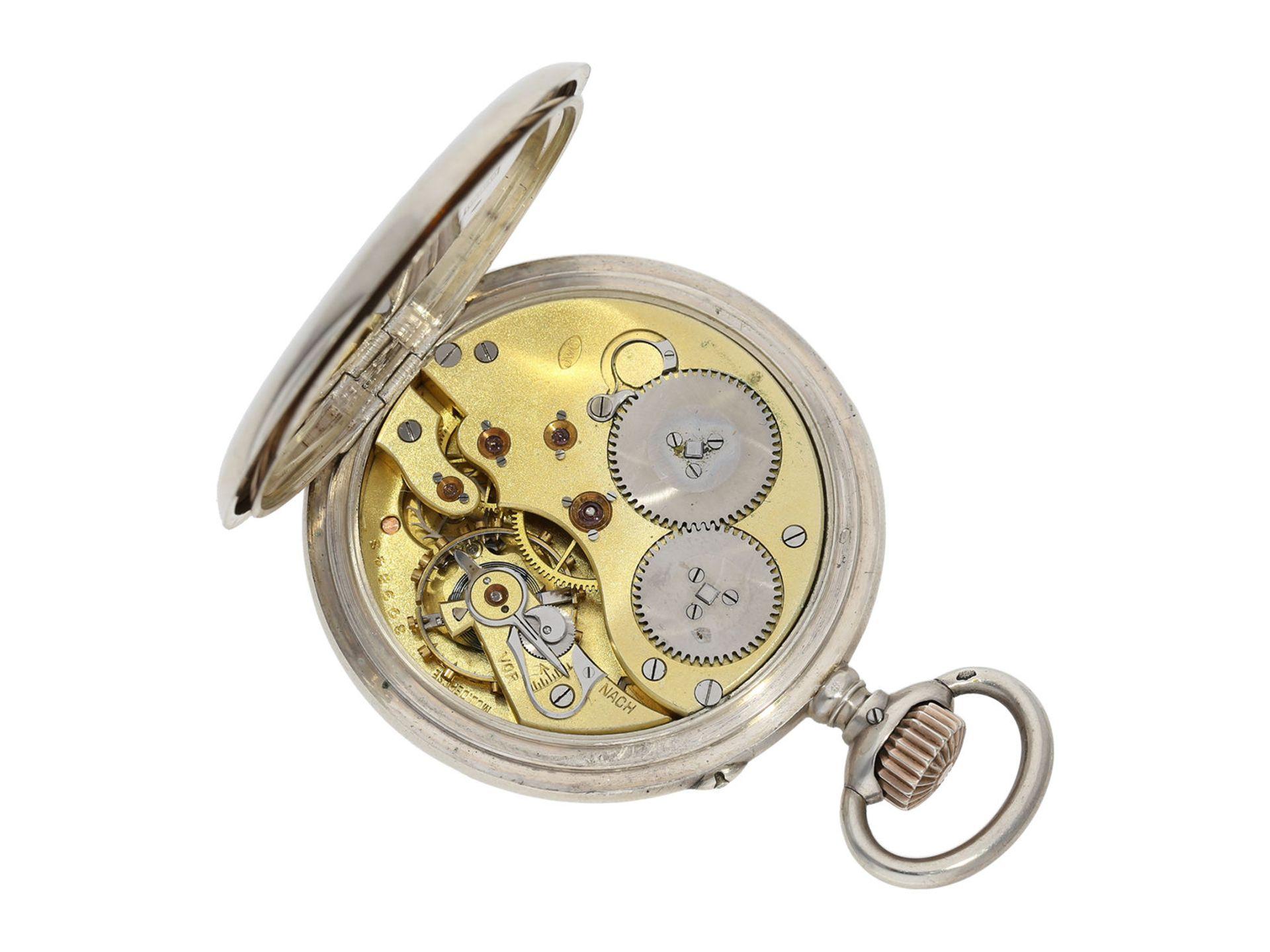 Pocket watch: IWC man's pocket watch with very rare 2-coloured dial, No.309843, Schaffhausen ca. - Bild 2 aus 6