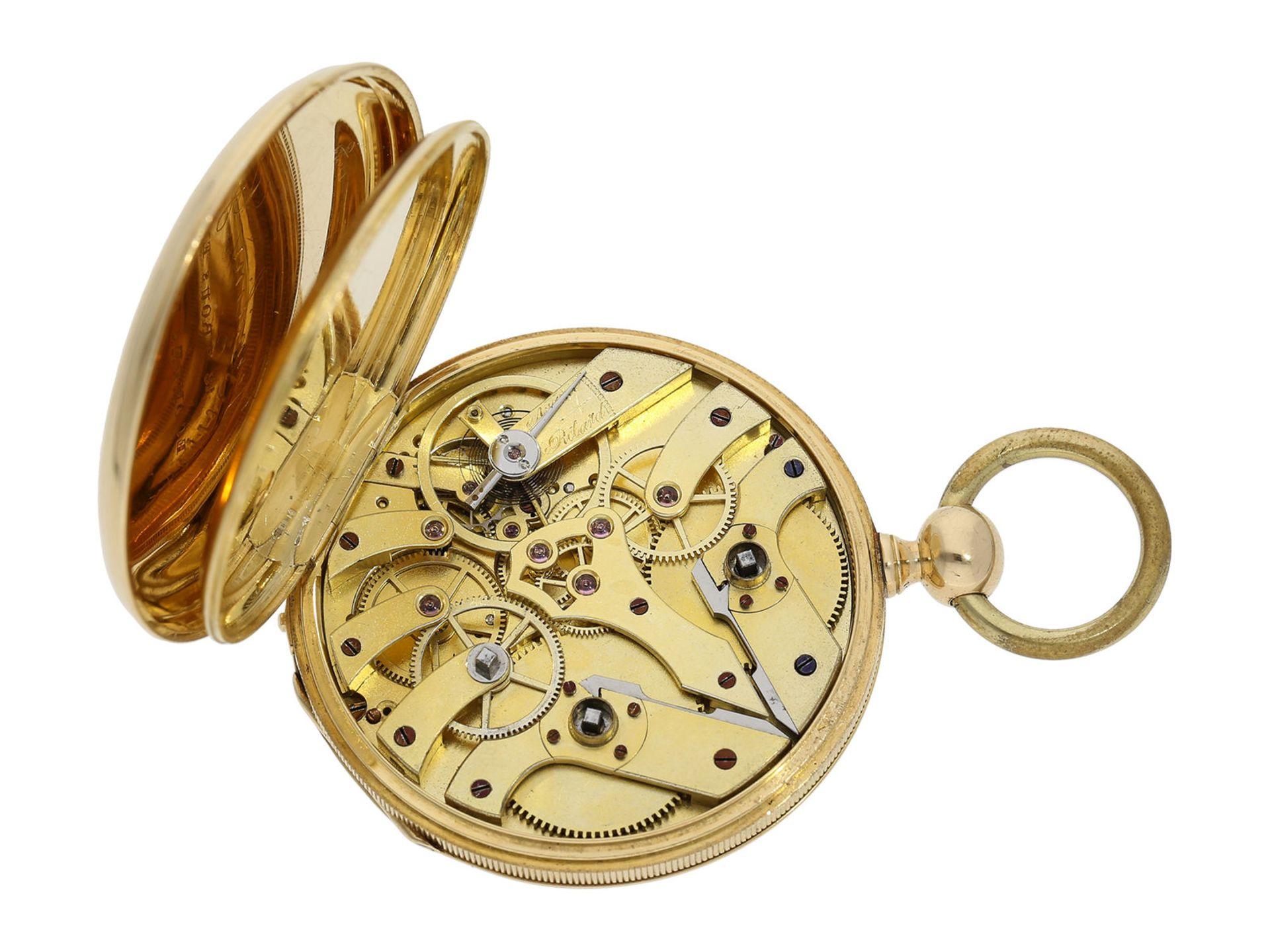 Pocket watch: technically interesting Italian pocket watch with Seconde Morte, Gimilini Gorini, case - Bild 4 aus 6