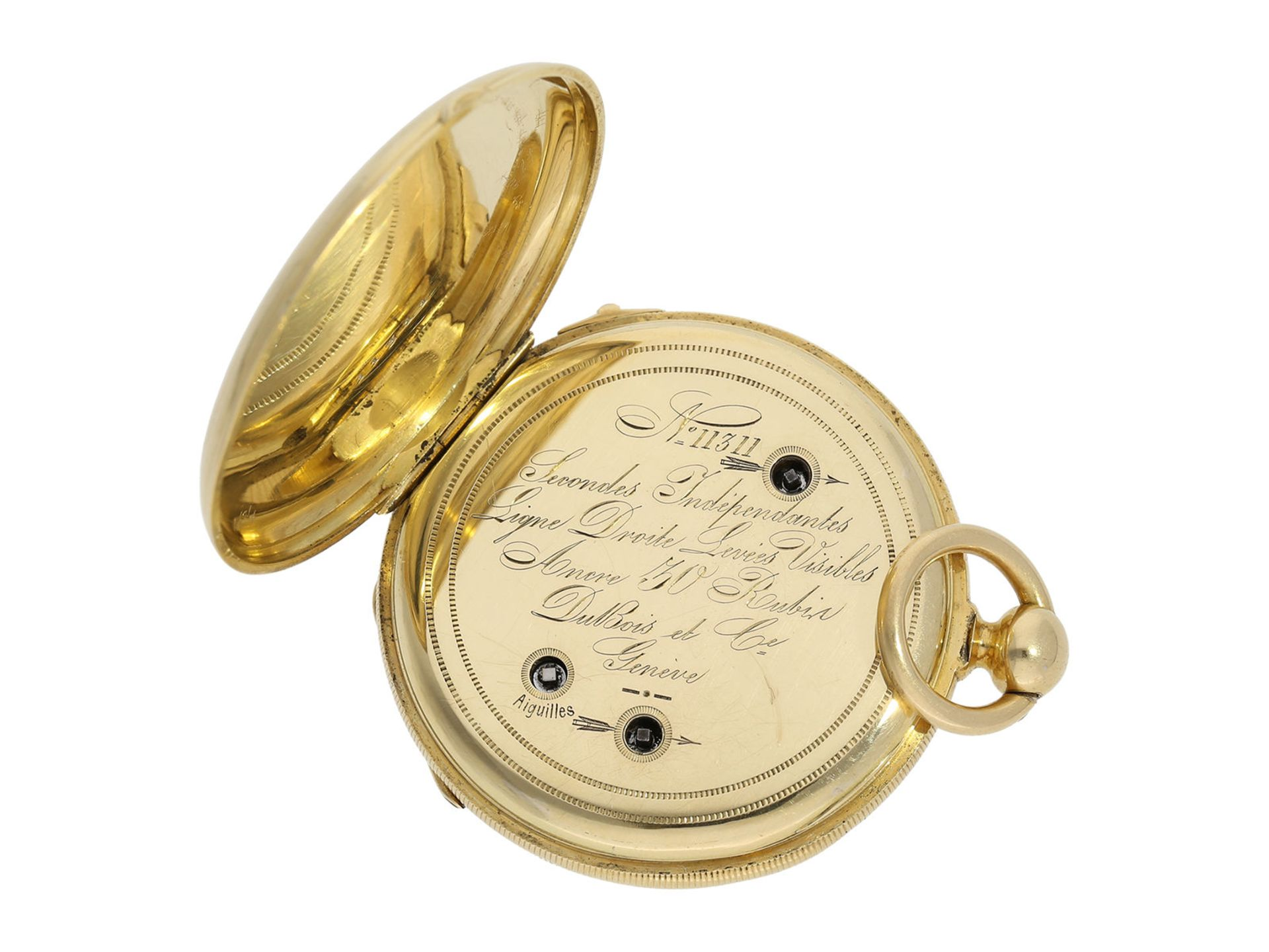 Pocket watch: fine Lepine with Seconde Morte, DuBois & Fils Geneve No. 11311, ca. 1850 - Bild 2 aus 6