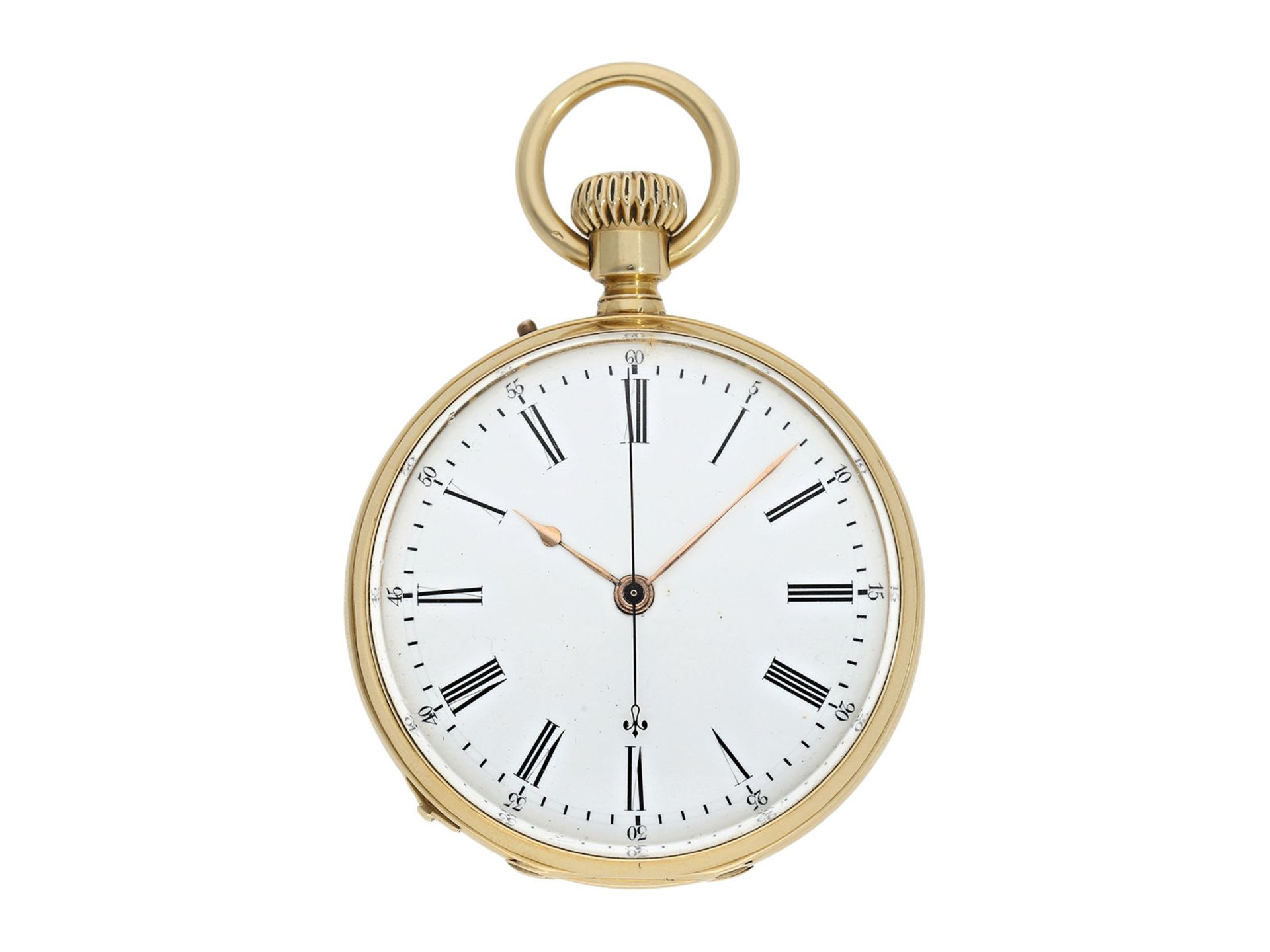 Pocket watch: early precision pocket watch with Seconde Morte, very fine quality, DuBois & LeRoy No.