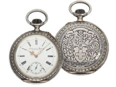 Pocket watch: large IWC marksman's watch, Federal Shooting Festival Frauenfeld 1890