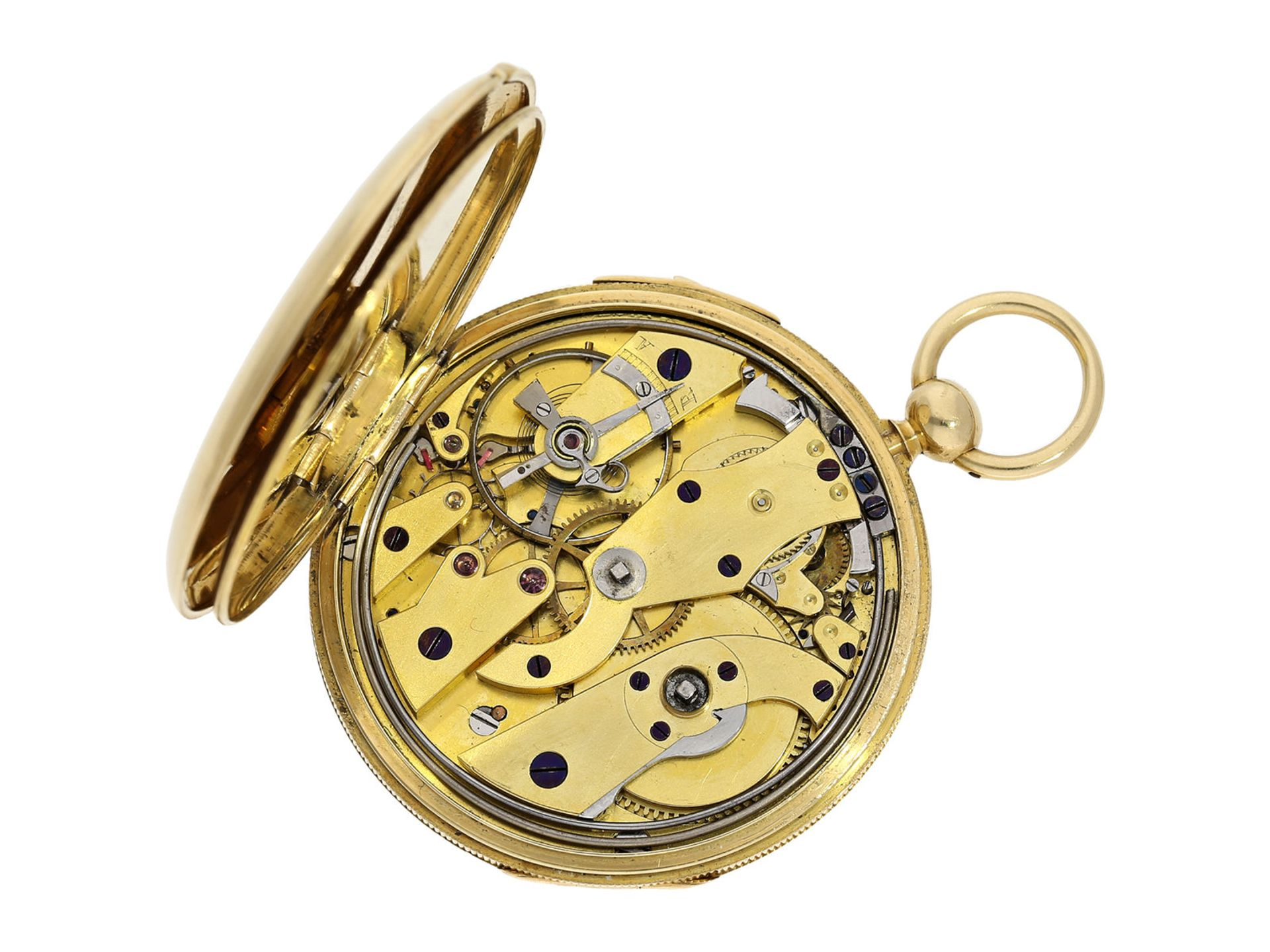 Pocket watch: early and small, very fine Lepine repeater, watchmaker from Breguet's circle, A. - Bild 2 aus 6