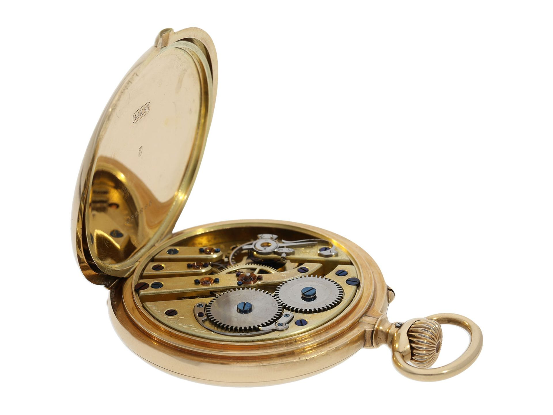 "Pocket watch: very rare IWC precision pocket watch quality ""EXTRA"", No. 181428, Schaffhausen ca. - Bild 3 aus 6"