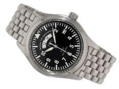 """Wristwatch: IWC pilot's watch """"Pilot Spitfire UTC TZC"""" Ref. 3251 with 2nd time zone"""