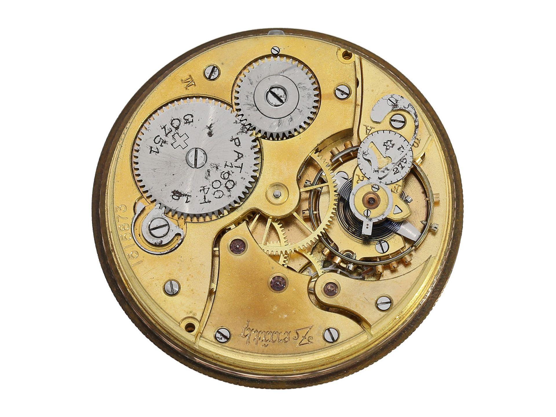 Pocket watch: chronometer Zenith in rare, perfectly preserved onyx case, ca. 1920 - Bild 4 aus 5