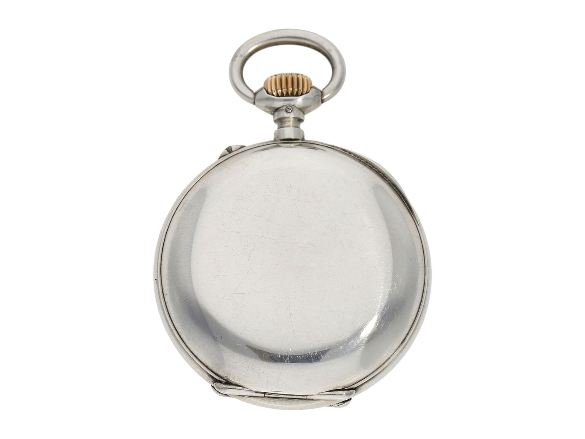 Pocket watch: rare digital pocket watch with jumping hour and jumping minute, Pallweber system, - Bild 5 aus 5