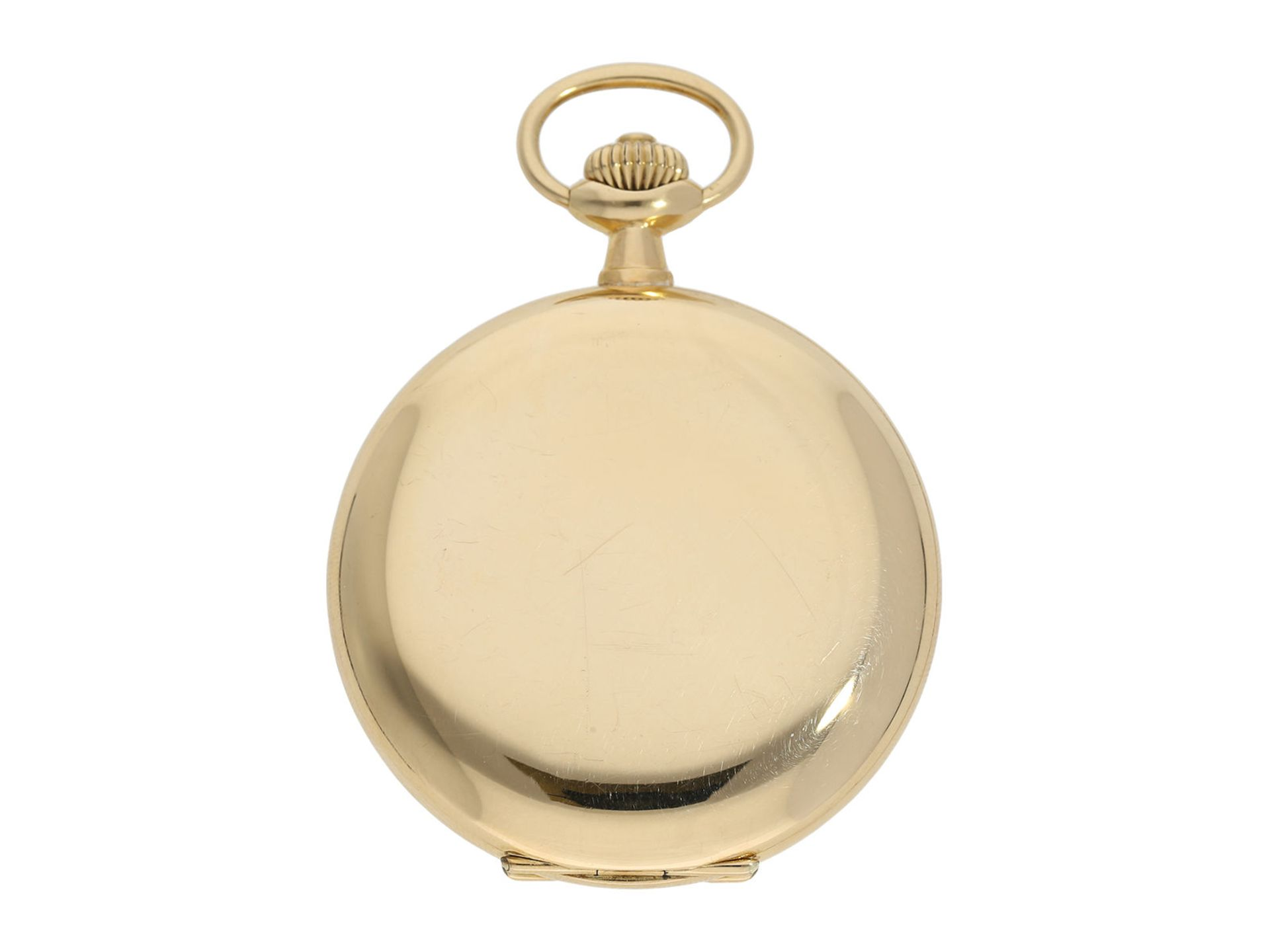 Pocket watch: Omega gold hunting case watch, ca. 1912 - Bild 7 aus 8