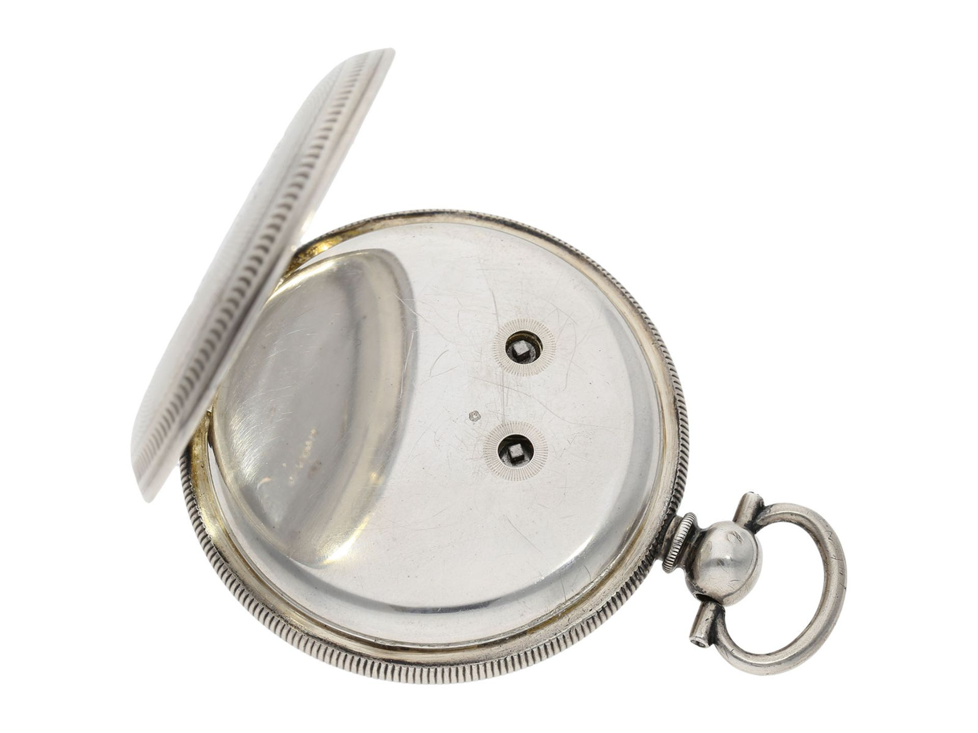Pocket watch: large man's pocket watch with center seconds and mock pendulum, Switzerland for the - Bild 6 aus 7