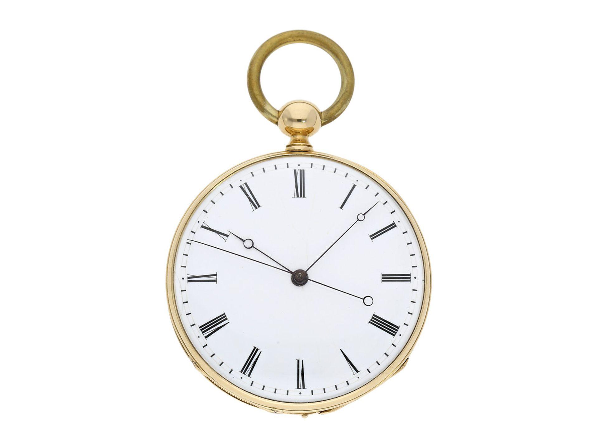 Pocket watch: technically interesting Italian pocket watch with Seconde Morte, Gimilini Gorini, case