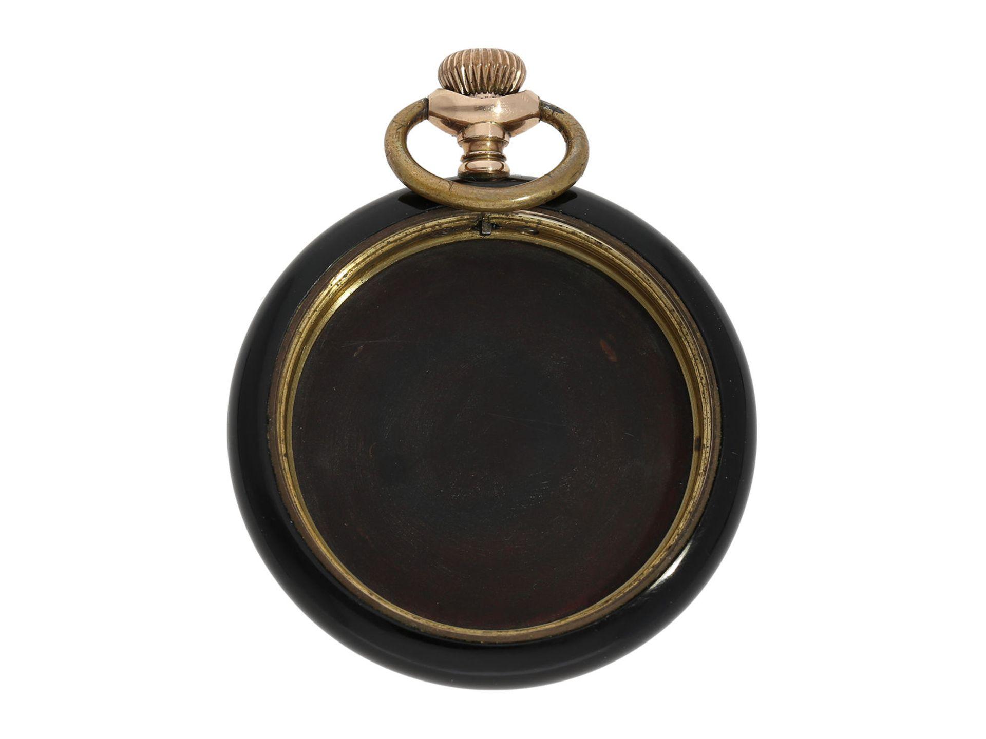 Pocket watch: chronometer Zenith in rare, perfectly preserved onyx case, ca. 1920 - Bild 2 aus 5