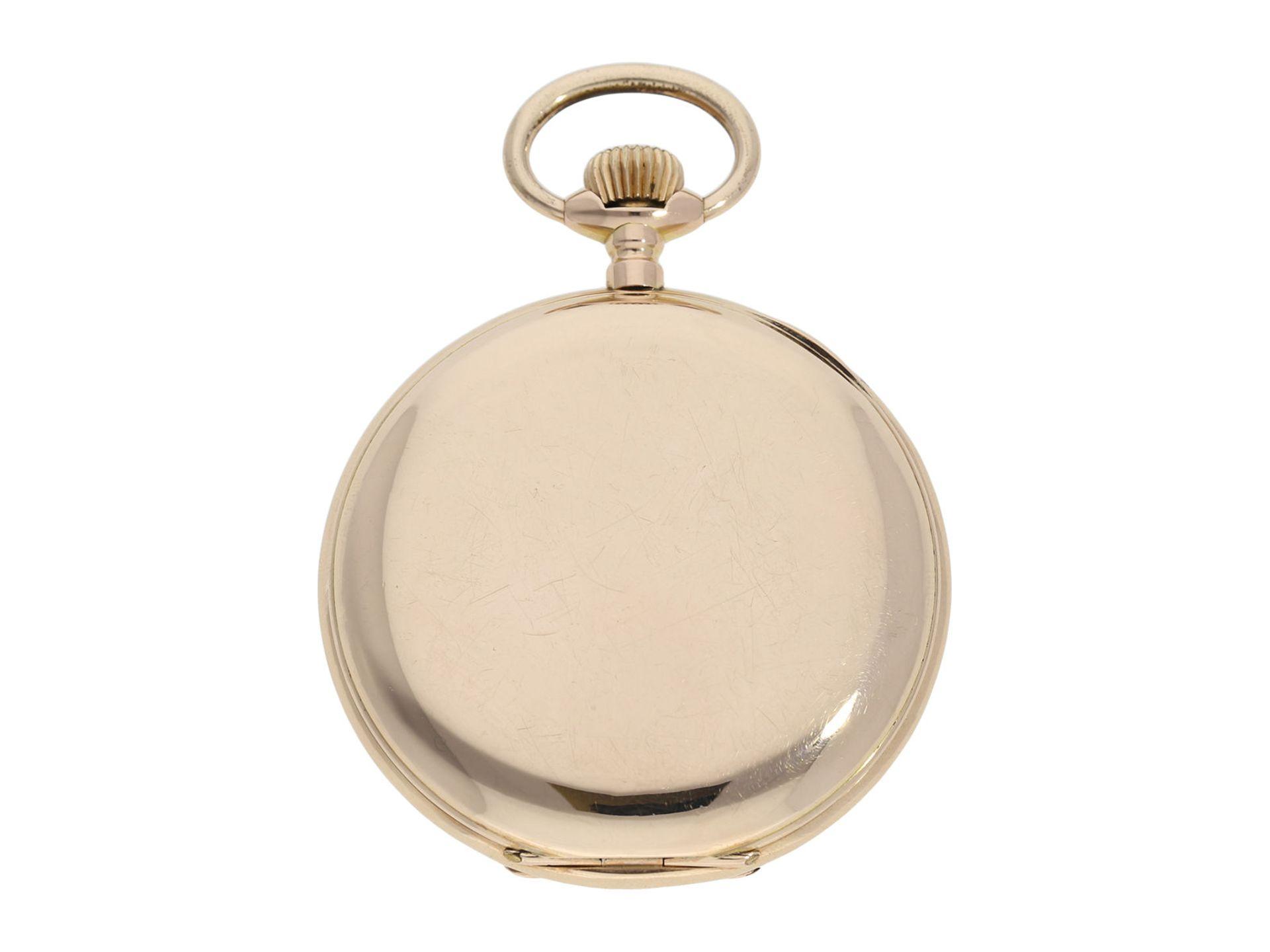 Pocket watch: heavy pink gold hunting case watch, Swiss Ankerchronometer, around 1900, No. - Bild 8 aus 8