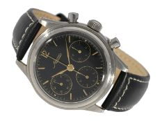 Wristwatch: attractive large Minerva chronograph with extraordinary lacquered dial, probably from