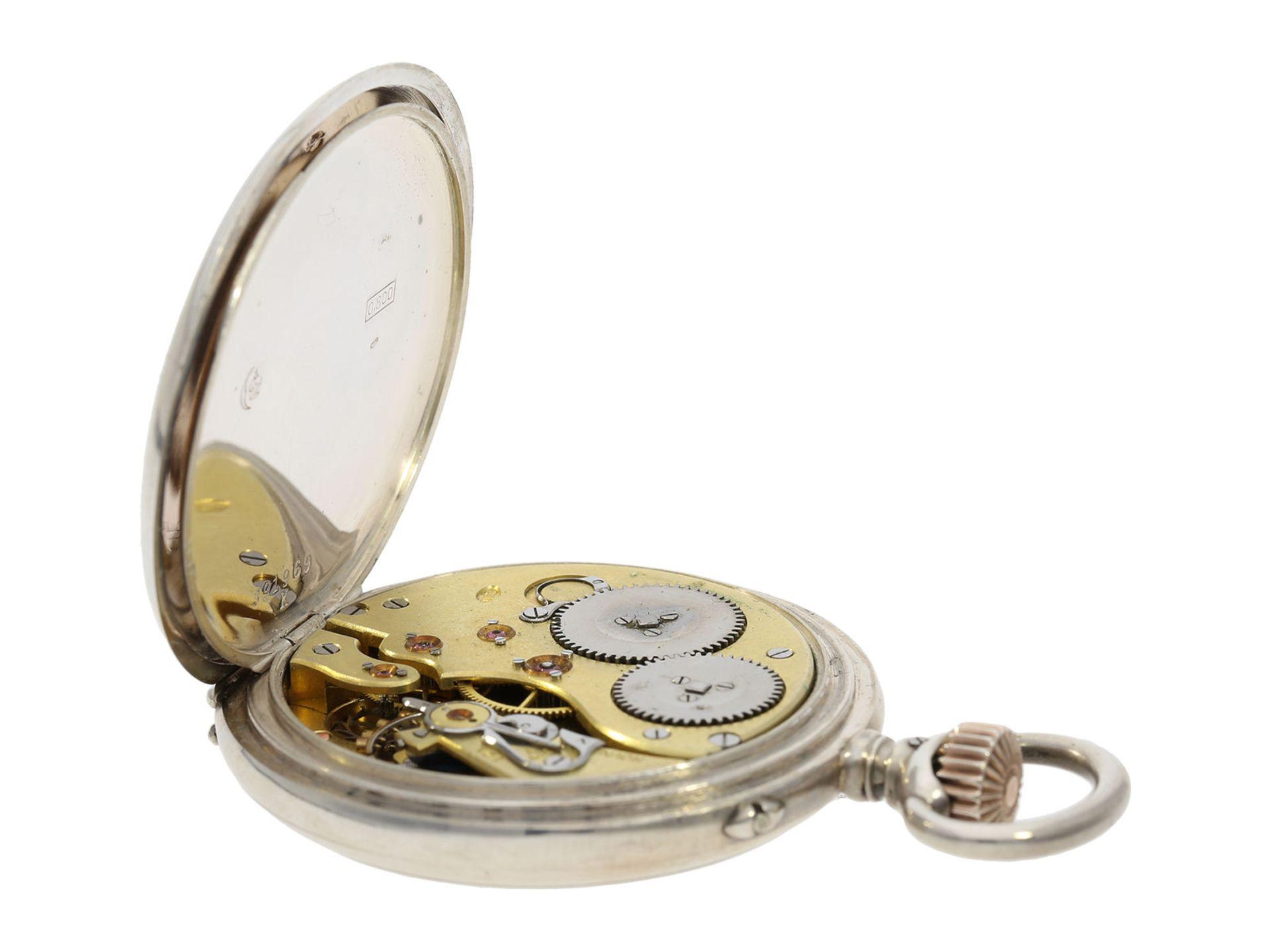 Pocket watch: IWC man's pocket watch with very rare 2-coloured dial, No.309843, Schaffhausen ca. - Bild 5 aus 6