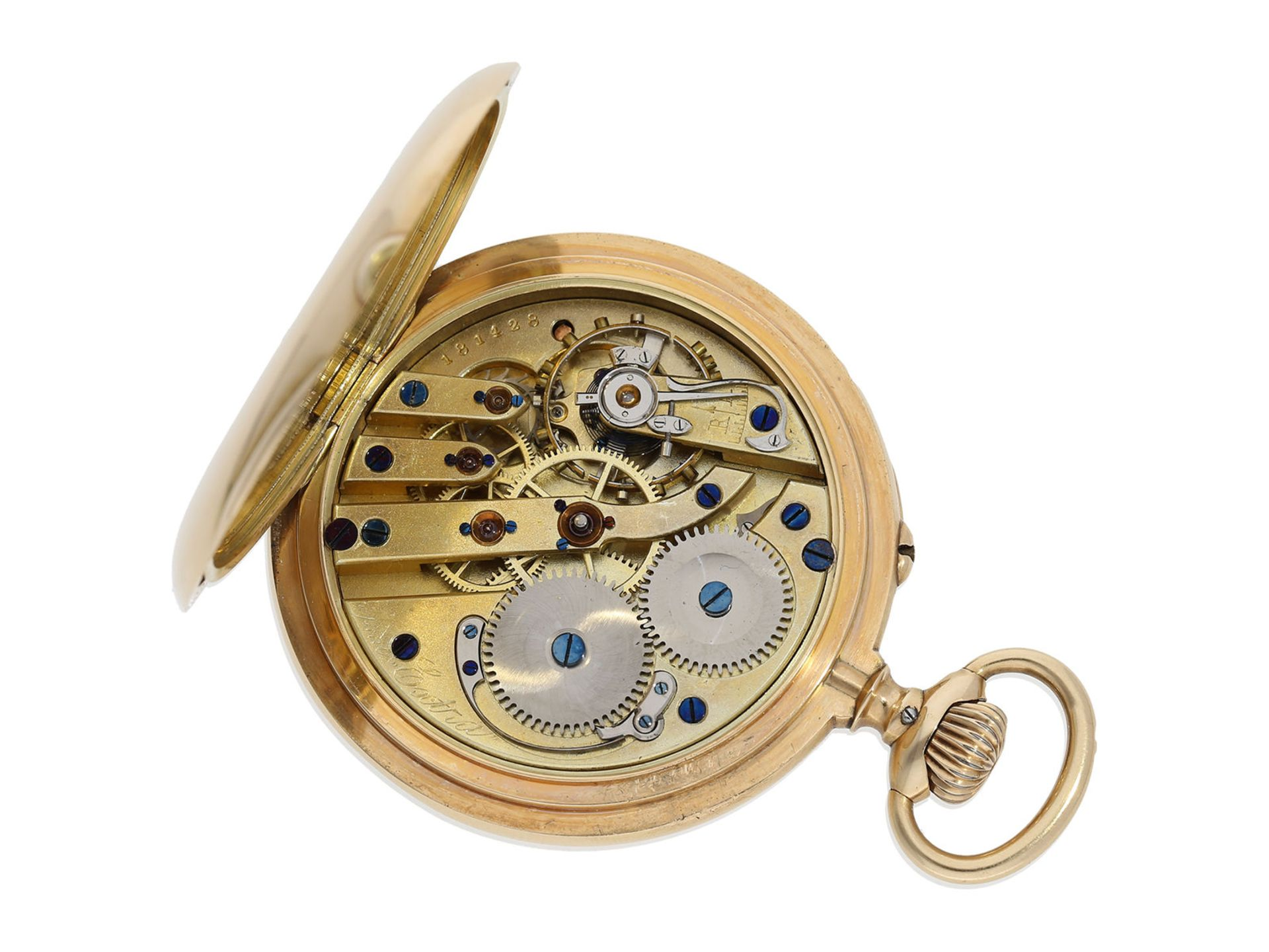 "Pocket watch: very rare IWC precision pocket watch quality ""EXTRA"", No. 181428, Schaffhausen ca. - Bild 2 aus 6"