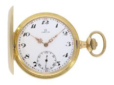 Pocket watch: Omega gold hunting case watch, ca. 1912