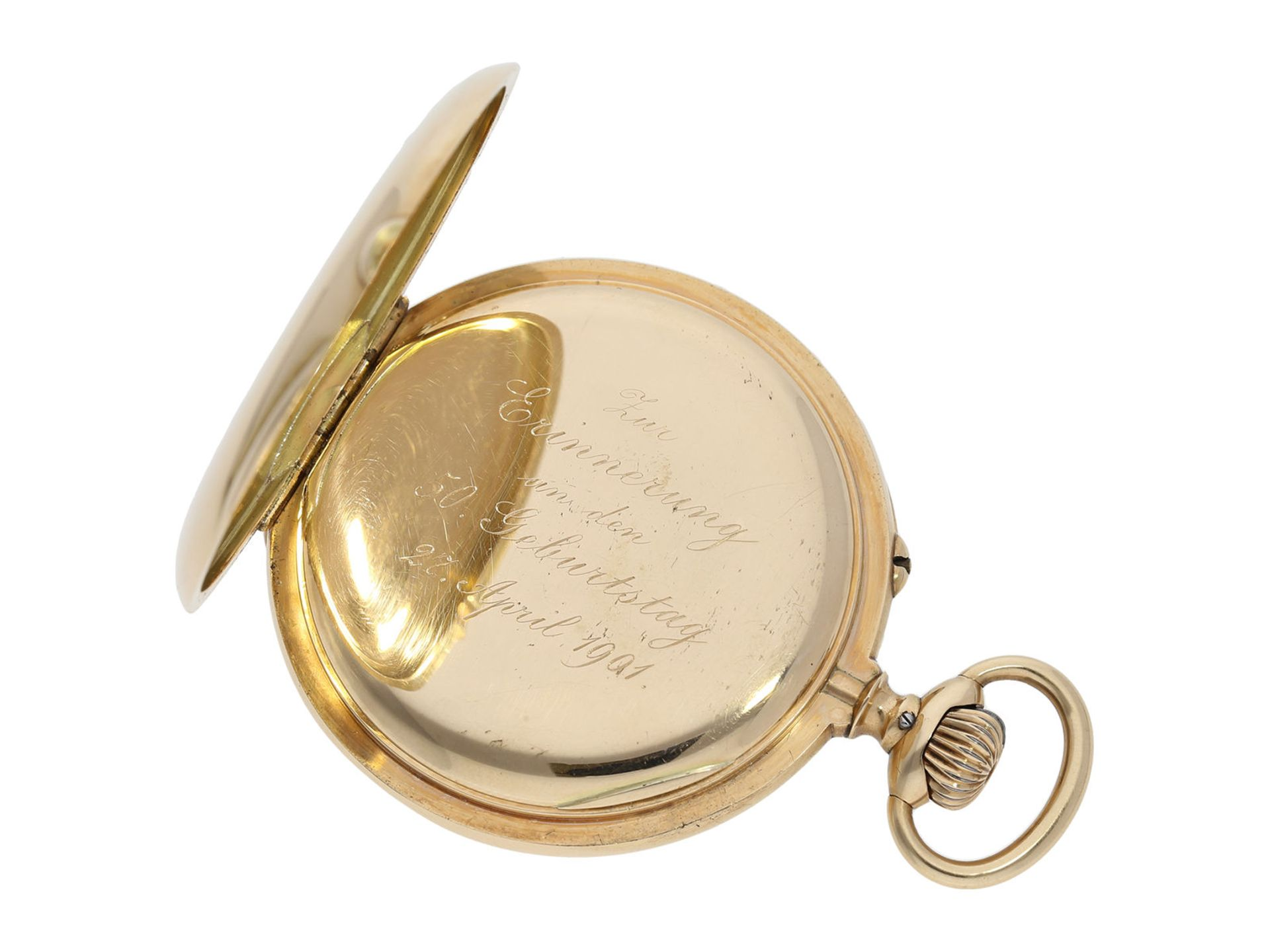 "Pocket watch: very rare IWC precision pocket watch quality ""EXTRA"", No. 181428, Schaffhausen ca. - Bild 4 aus 6"