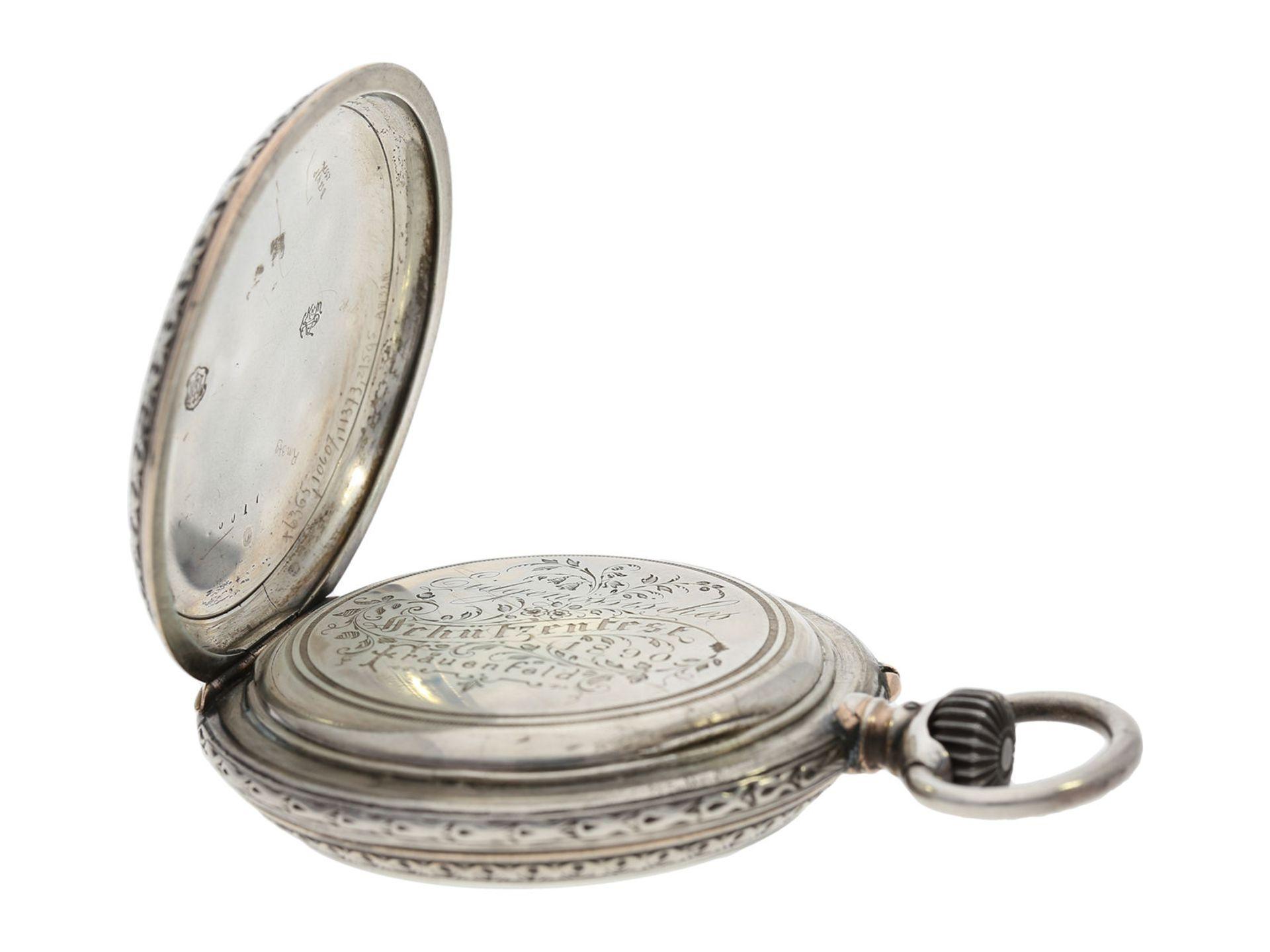 Pocket watch: large IWC marksman's watch, Federal Shooting Festival Frauenfeld 1890 - Bild 3 aus 6