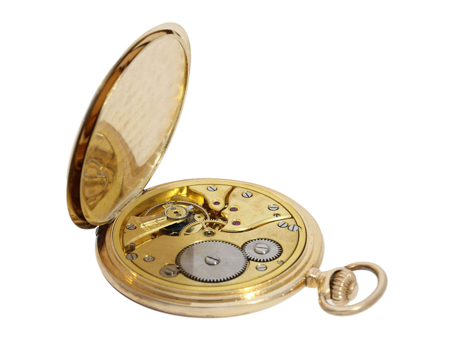 Pocket watch: historically interesting gold hunting case watch from the property of Kurt von - Bild 3 aus 7