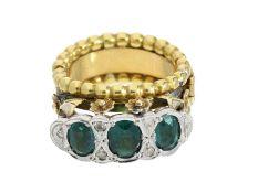Ring: äußerst ungewöhnlicher Goldring, aufklappbar, vermutlich antik, 14K Gelbgold<br