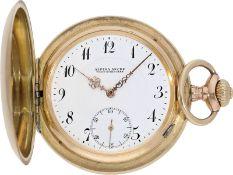 Taschenuhr: qualitätsvolle Schweizer Goldsavonnette, Alpina Union Horlogere, ca.1900<