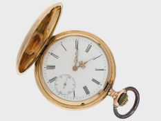 Taschenuhr: frühe IWC Goldsavonnette No.96470, ca.1892<