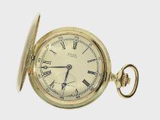 Taschenuhr: schwere Goldsavonnette feiner Qualität, Dürrstein Dresden, ca. 1920<b