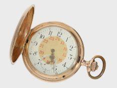 Taschenuhr: rotgoldene Savonnette von IWC Schaffhausen, ca. 1905