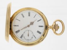 Taschenuhr: frühe 18K Goldsavonnette, feines Ankerchronometer, ca. 1885<