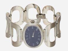 Armbanduhr: vintage Damenuhr der Marke Caravelle, 835er Silber