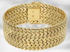 Armband: breites schweres vintage Armband, 18K Gelbgold