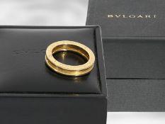 Ring: Bvlgari, Gelbgoldring B.zero1 im Original-Etui und Verpackung, 18K Gold