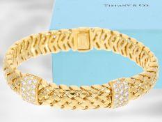 "Armband: Tiffany & Co., nahezu neuwertiges Armband aus der Kollektion ""Vannerie"" mit Brillantbesatz,"