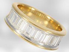 Ring: hochwertiger Halbmemoirering mit feinsten Diamanten, ca. 2ct, 18K Gelbgold, NP €10900,-Ca.