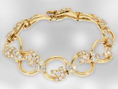 Armband: interessantes 18K Designerarmband mit Brillantbesatz, feine Qualität, insgesamt ca. 7ct,