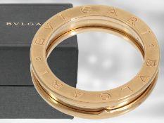 Ring: Bvlgari, Roségoldring B.zero1 im Original-Etui und Verpackung, 18K Gold