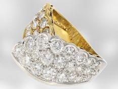 Ring: sehr dekorativer hochwertiger Brillantring, ca. 3ct, 18K Gold, feiner Markenschmuck Salvini