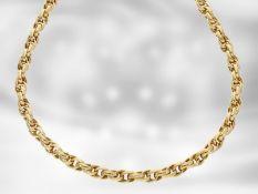 Kette/Collier: hochwertige dekorative Gelbgoldkette, 18K Gold