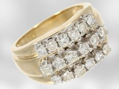 Ring: gelbgoldener vintage Brillantring, ca. 0,9ct, 14K Gold
