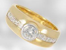 Ring: klassischer Brillant/Diamant-Bandring, 18K Gold, Goldschmiedearbeit Hofjuwelier RoesnerCa.