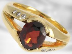 Ring: massiver und dekorativer 18K Rodolith/Brillant-Ring