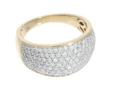 Ring: hochwertiger, sehr schöner Damen-Cocktailring mit reichhaltigem Brillantbesatz von ca. 0,