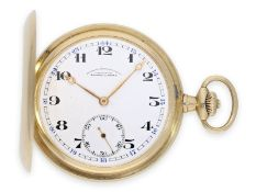 Pocket watch: very well preserved A. Lange & Söhne gold hunting case watch, Glashütte 1920-1925,