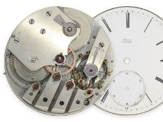 Pocket watch: movement of a very high-quality English pocket chronometer with chronometer