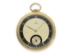 Pocket watch: rare Omega dress watch with 2-coloured dial, Art Deco, 18K gold, ca. 1935