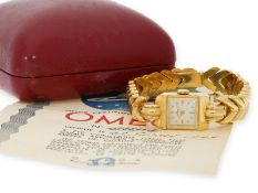Wristwatch: early luxury Omega lady's watch in extremely rare original condition with original box