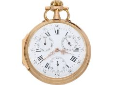 Pocket watch: very beautiful Louis XV Lepine with calendar, 18K pink gold, signed Vuillermos a