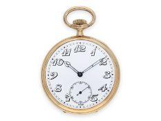 Pocket watch: attractive gold precision pocket watch, ca. 1910, with original box, E. Gübelin