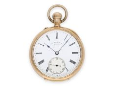 Pocket watch: early pink gold pocket watch by A. Lange & Söhne Glashütte, No.26080, made for the